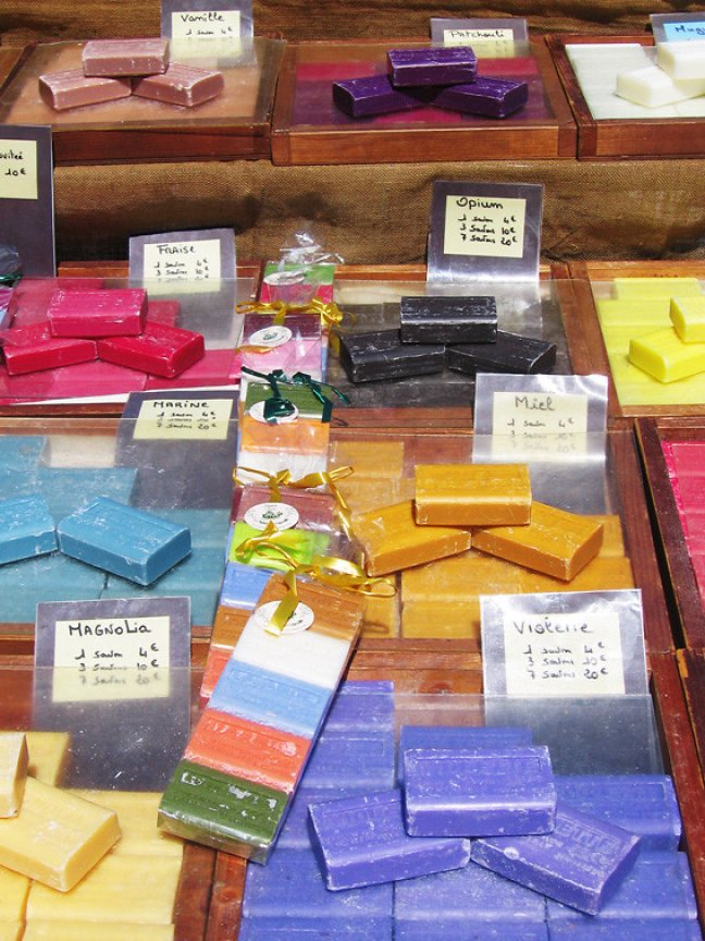 Kleurige en geurige zeepjes