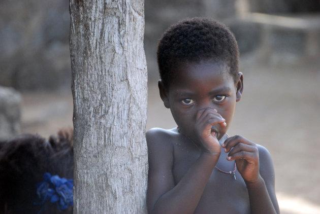 meisje in dorpje bij Porto Novo, Benin
