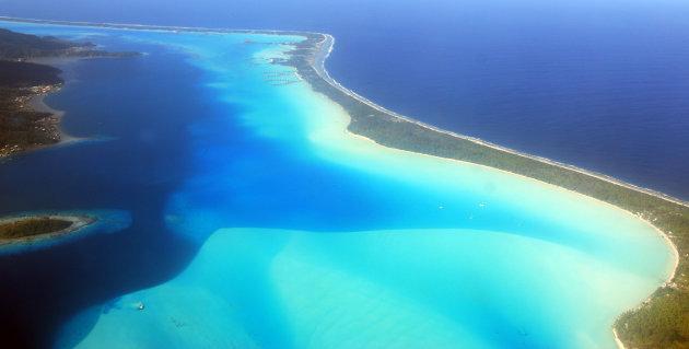 tropisch paradijs vanuit de lucht