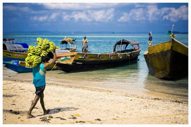 Haven v Havelock, Andaman eilanden, India bevoorraden van het eiland.