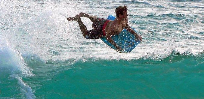 bodyboarder op Mauï
