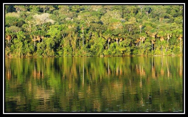 Het meer bij de Chalalan-lodge