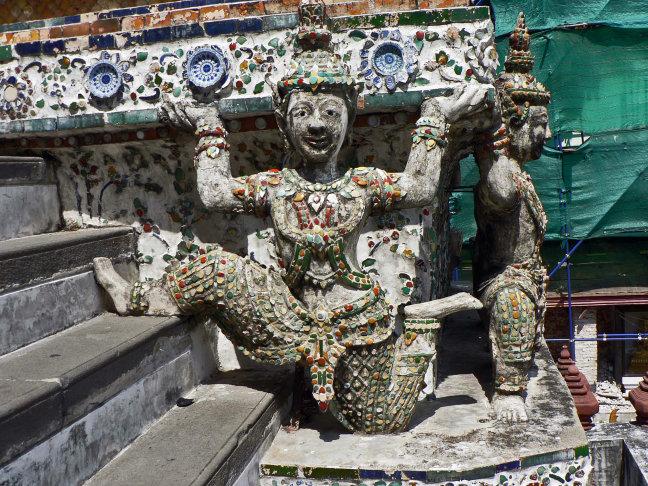 Detail tempel.wat Phra Kaeo , Bangkok.
