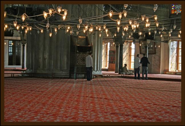 Overzicht binnen in Moskee
