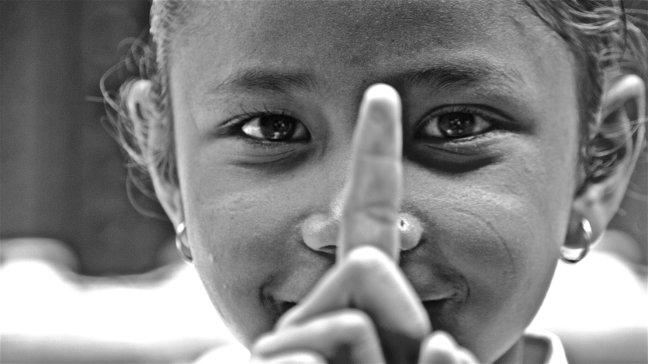 schoolmeisje in Nepal