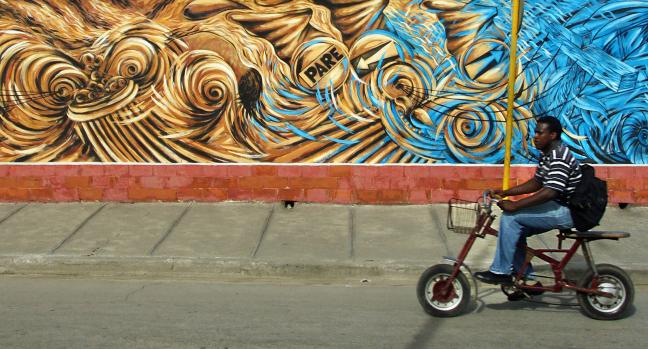 Kunst op weg naar Santiago de Cuba