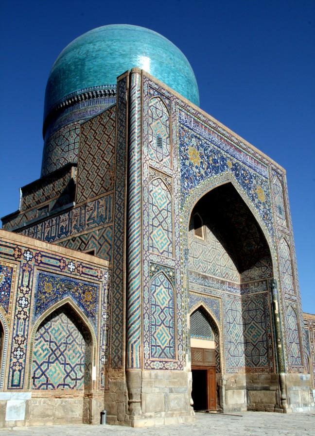 een en al turkois in Samarkand