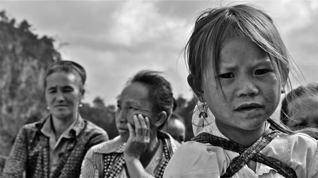 meisje in hoogland Laos