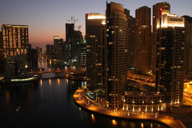 Avond in Dubai