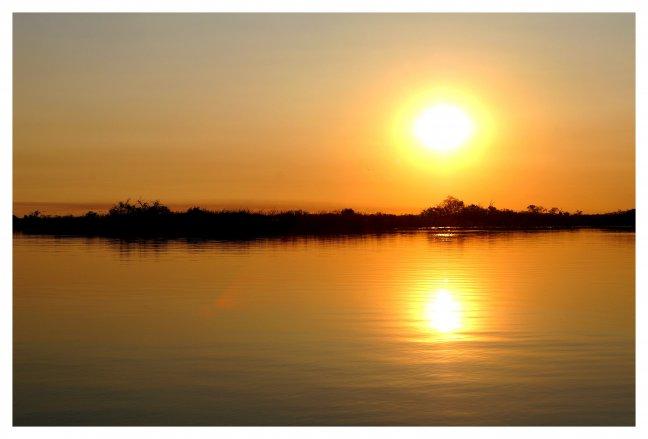Goudgele zonsondergang