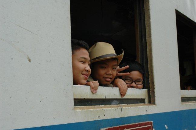 Groetjes uit de trein!
