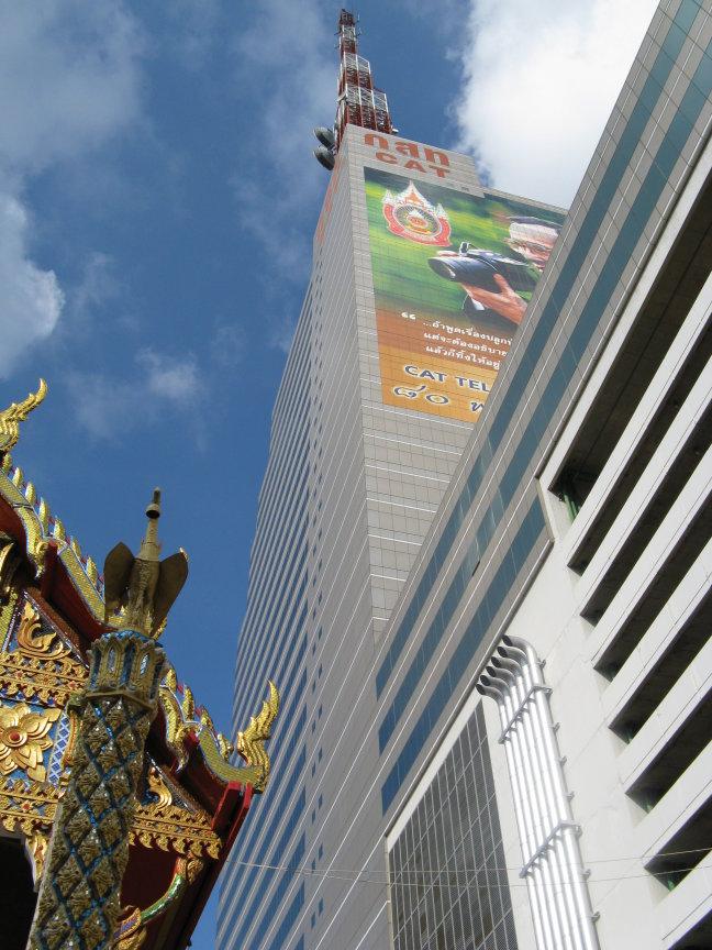 Tempels en moderne wereld in Bangkok