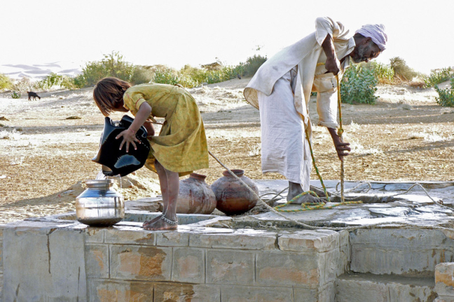 Water halen in Khuri