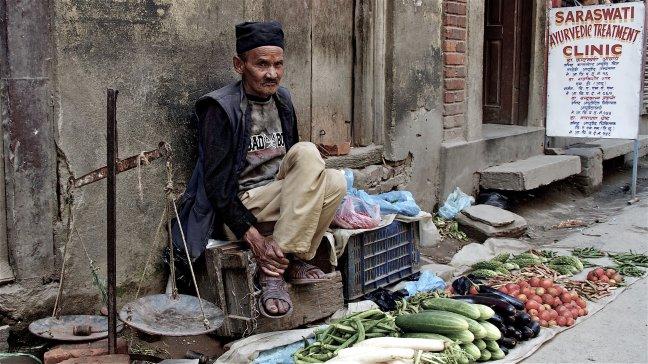 groenteman in Kathmandu