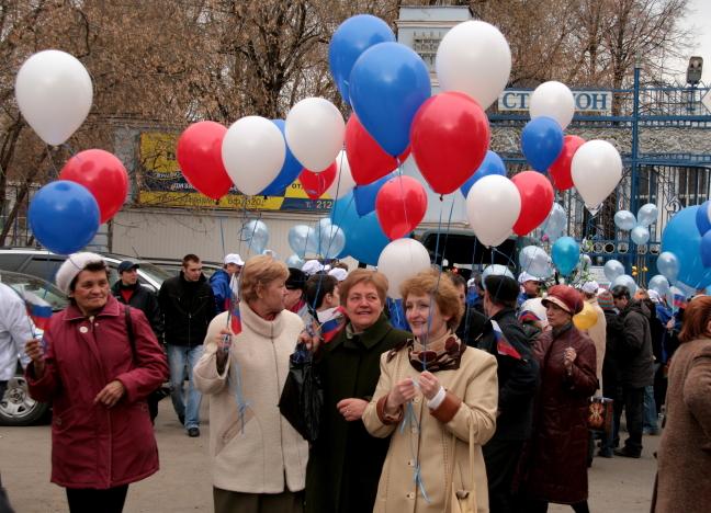 demonstratie in Rusland