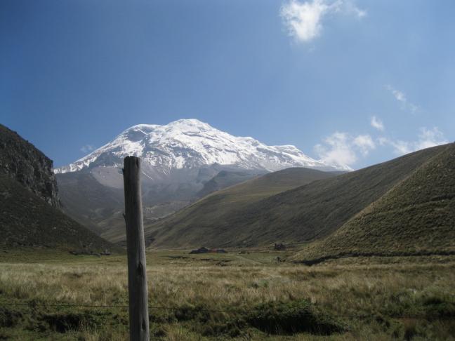 Blik op de vulkaan Chimborazo