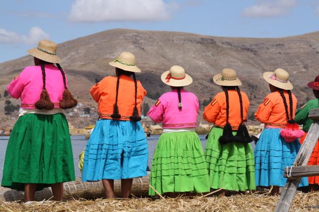 de dames van de Uros eilanden