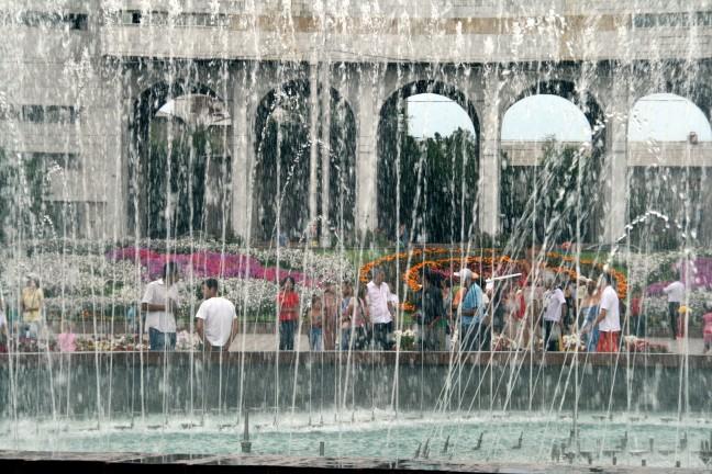 Genieten van de fontein