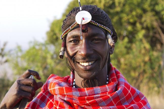 De Masai van ons kamp.