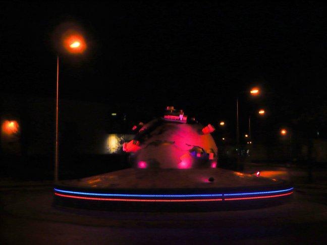 verlicht verkeersplein