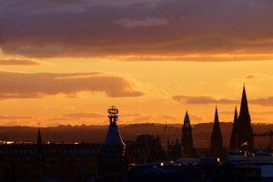 Zonsondergang Edinburgh