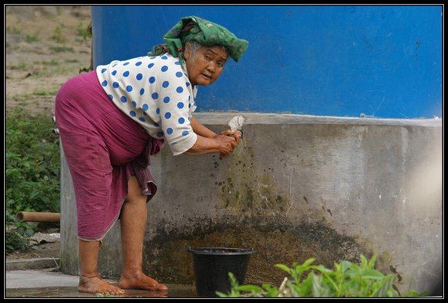 Wassen met koud water