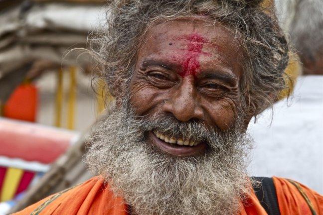 man in Varanasi