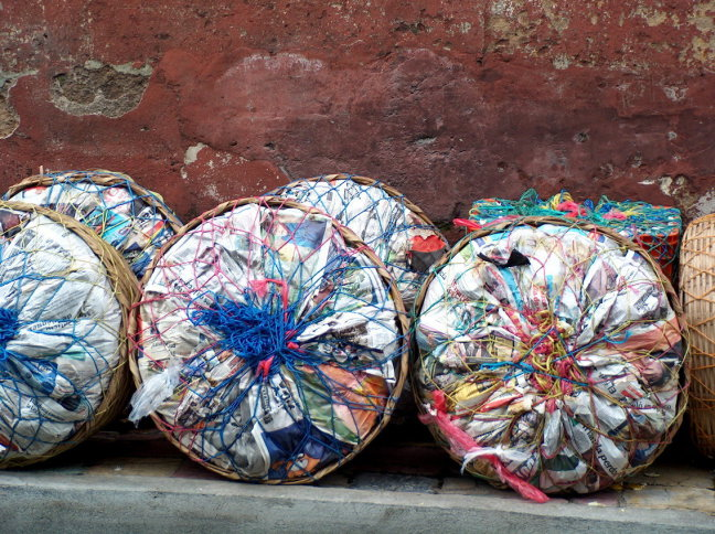 geen vuilniszakken nodig