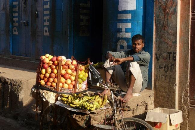 fruitverkoper in Bhaktapur