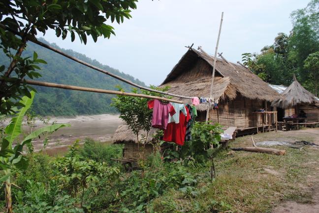 In een dorpje langs de Mekong