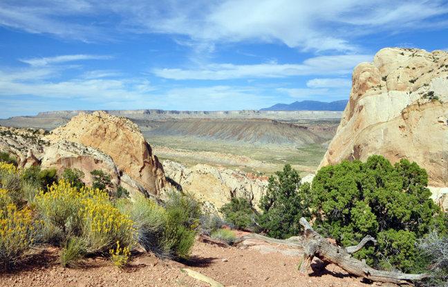 Landschap van de Burr Trail