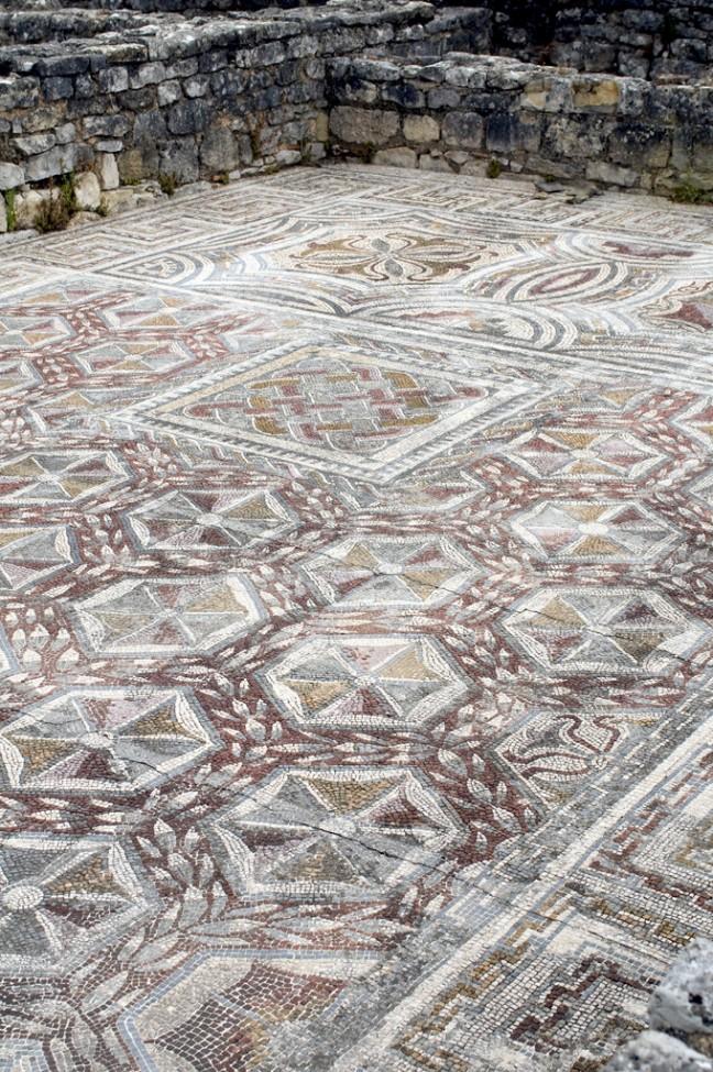 Mozaiek vloer oud romeinse stad Conimbriga