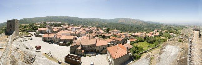 Panorama oude middeleeuwse stad