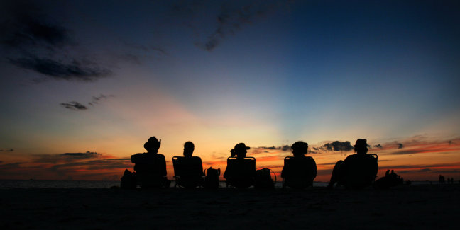 Zonsondergang Fort Meyers Beach Florida