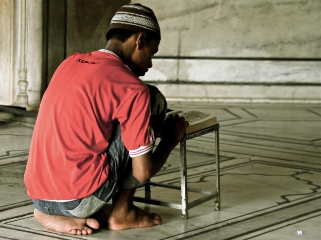 moslimjongen in Delhi