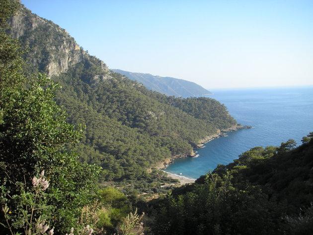 Uitzich vanuit Kabak, Lyceense kust