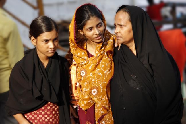 Vrouwen aan de oever van de Ganges