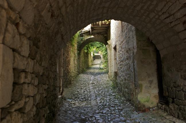Straat in saint-cirq-Lapopie