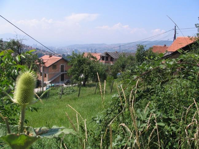 Blik op Sarajevo vanuit de bergen