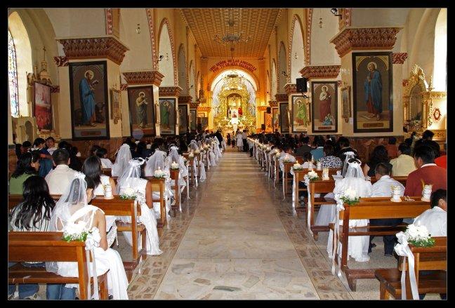 Een kathedraal vol bruiden