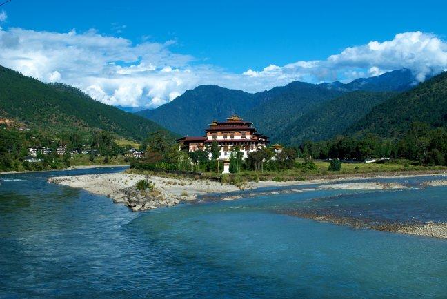 De dzong van Punakha