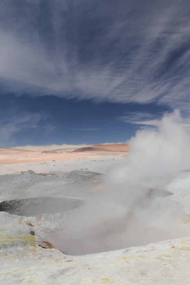 Geisers in Bolivia, op 4800 m. hoogte.
