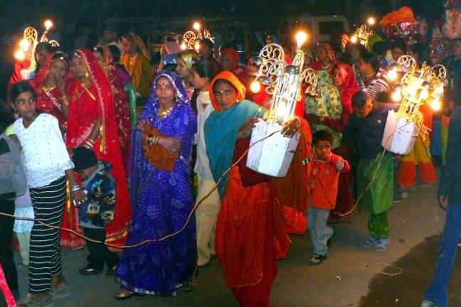 Bruiloftsoptocht in Bikaner