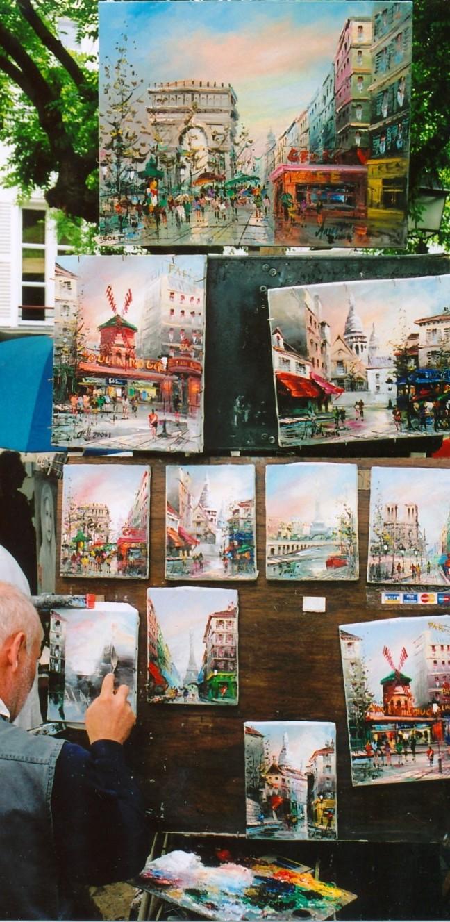 Schilder op Montmartre !!