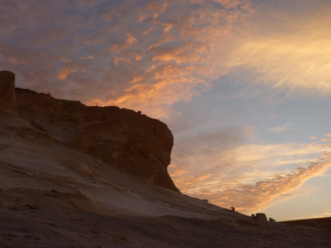 Zonsondergang Witte Woestijn