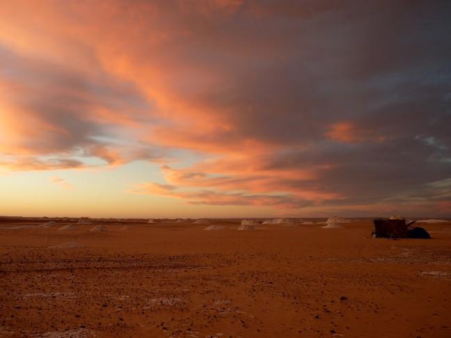 Kamp in de woestijn