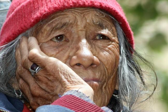 vrouw bij Thaktok festival