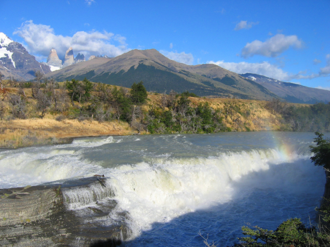 waterval in Torres del Paine