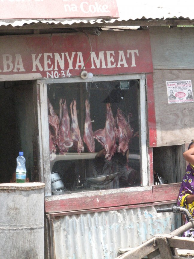 Slagerij in Kenia