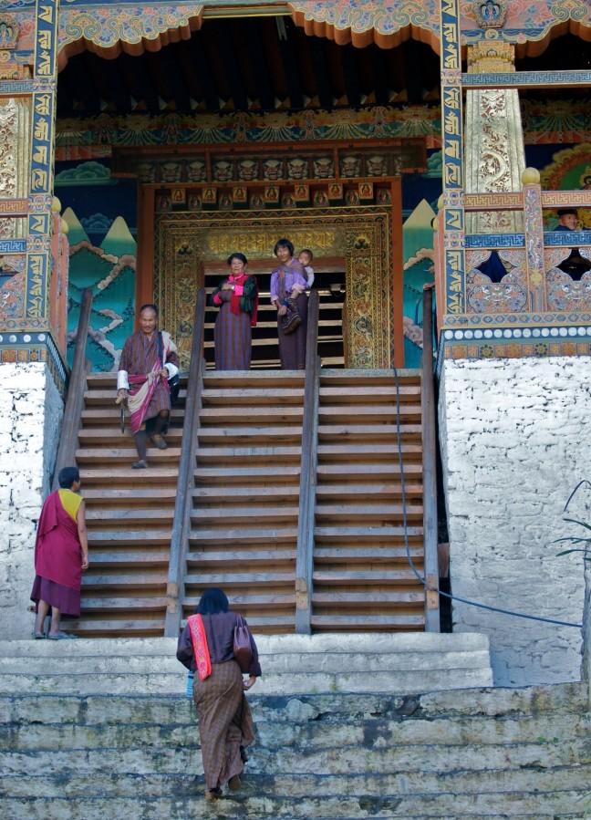 Ingang van de dzong van Punakha